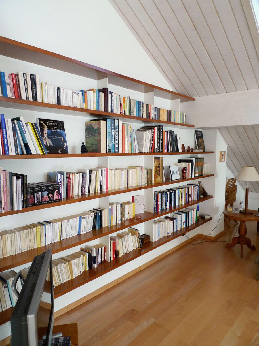 biblioth que murale suspendue