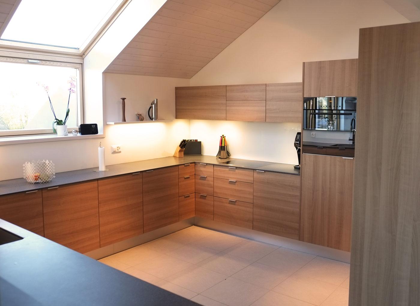 cuisine sur mesure en forme de u. Black Bedroom Furniture Sets. Home Design Ideas