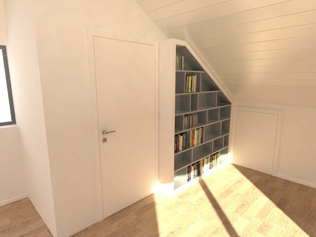 biblioth ques en sous pente. Black Bedroom Furniture Sets. Home Design Ideas